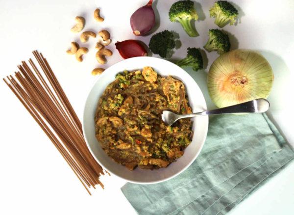 Broccoli Cashew Alfredo Savory Bowl B
