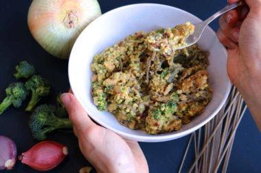 Broccoli Cashew Alfredo Savory Bowl C