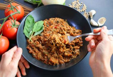 Lentil Tomato Pasta Savory Bowl A