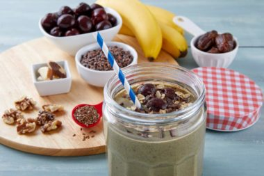 LeafSide Cacao Cherry Smoothie