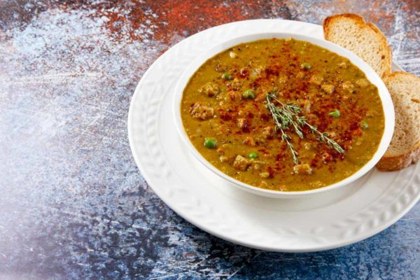 LeafSide Smoky Pea Soup - close up