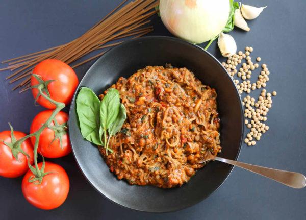 Lentil Tomato Pasta Savory Bowl B
