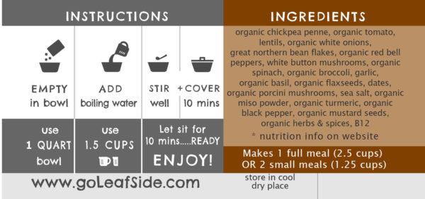 Lentil Tomato Pasta Savory-Bowl LeafSide