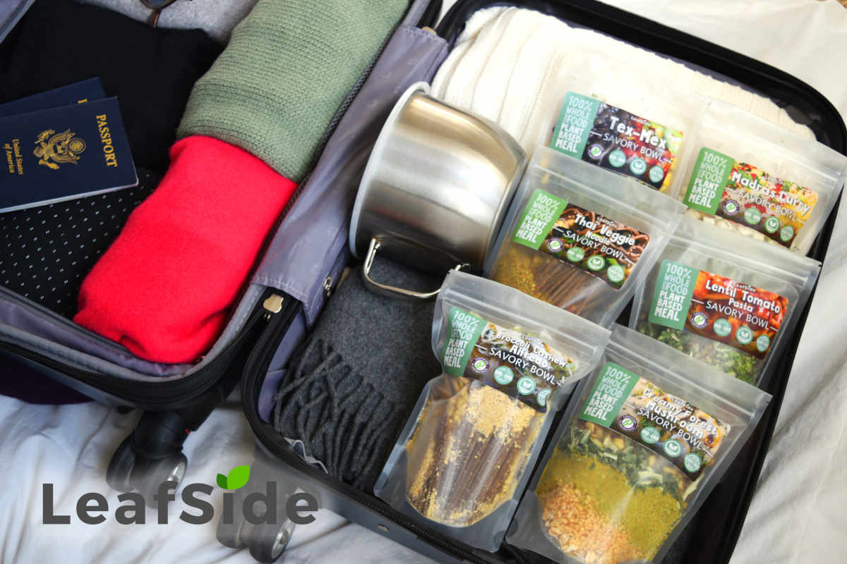 LeafSide Savory Bowls in Suitcase