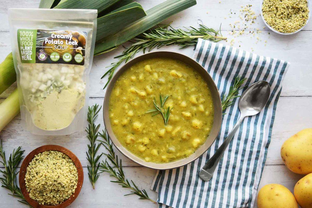 LeafSide Creamy Potato Leek Soup