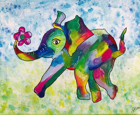 Kids Workshop - Farbenfroher Elefant