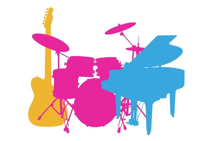 Drums, Guitar & Piano - Practice and Theory