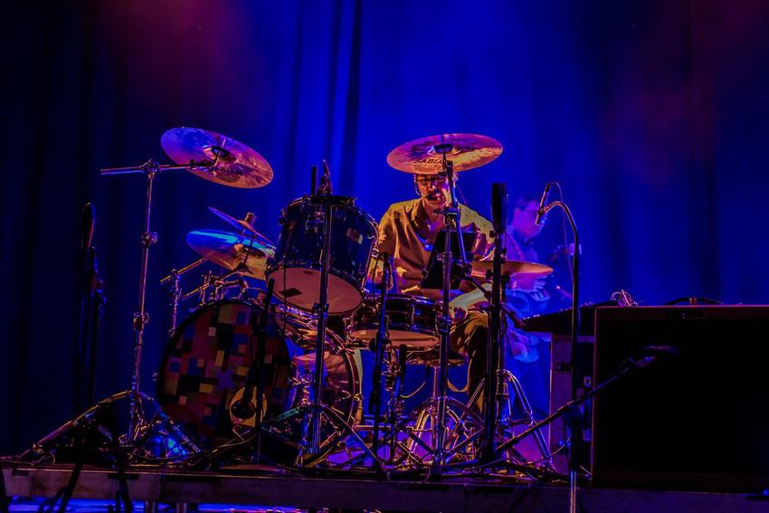 Sepp'l ist Drummer (hier mit den Terrible Noises beim Batschkapp-Jubliäum 2016)