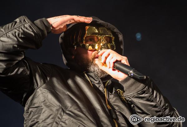 Der Mann mit der goldenen Maske - Sido liefert eine solide Show in der halle02 in Heidelberg