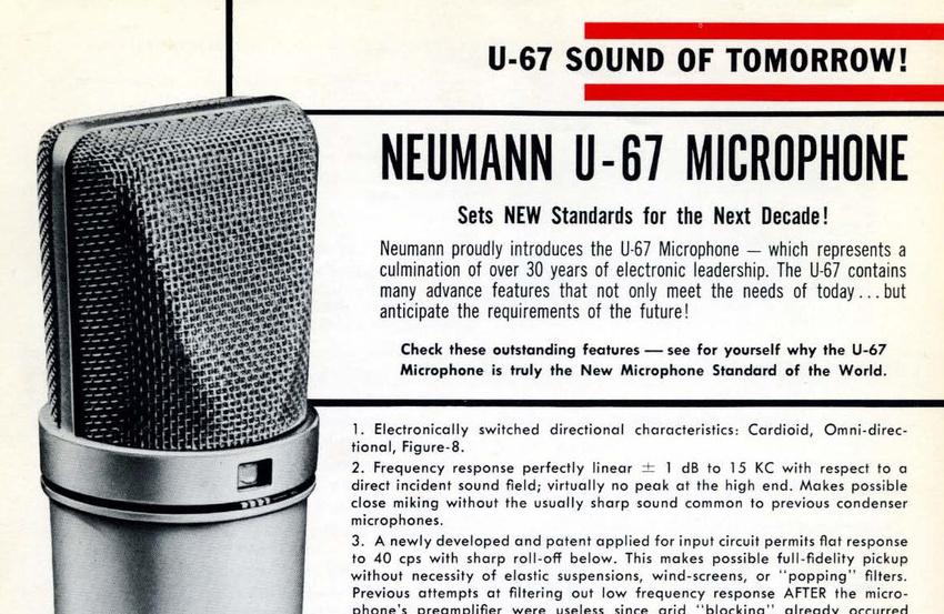 Das Neumann U 67 wurde in die TECnology Hall of Fame aufgenommen