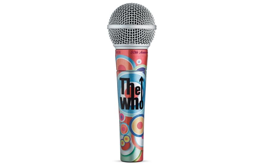 Limitierte Shure SM58 50th Anniversary Edition in Zusammenarbeit mit Paul McCartney und The Who