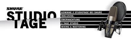 Shure Studio Tage 2017: Gewinne ein Studio-Wochenende inkl. Mixing/Mastering
