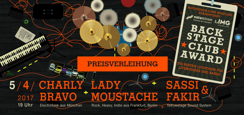 BACKSTAGE Clubaward 2017: Kommt zur großen Preisverleihungs-Show in die Milchsackfabrik Frankfurt!