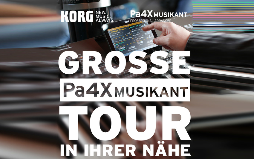 KORG kündigt große Pa4X MUSIKANT Tour 2017 an