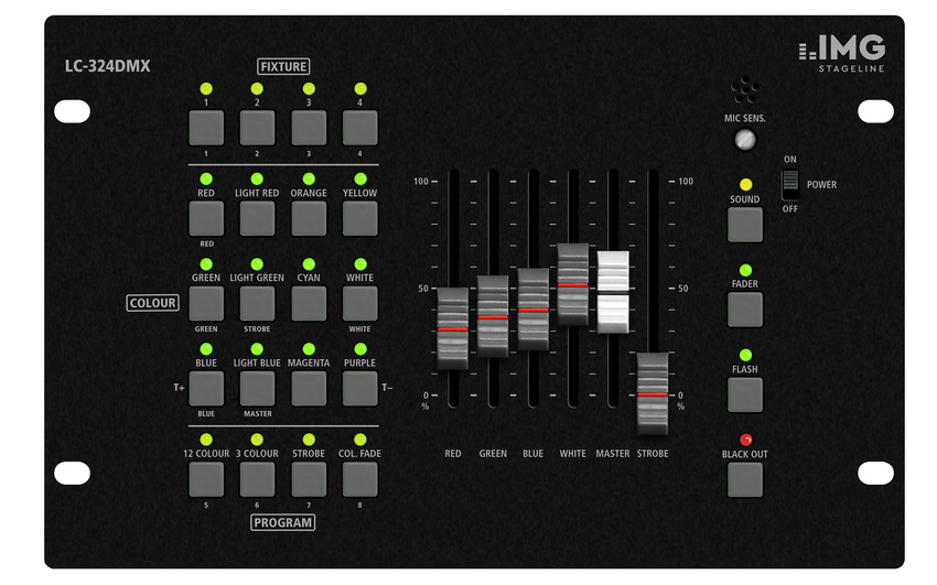 Bühnenlicht auf Knopfdruck: IMG STAGELINE stellt neuen Controller für LED-Scheinwerfer vor