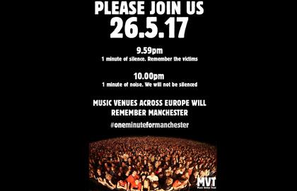 Europäische Locations gedenken Opfern von Manchester mit Schweigen und Lärm