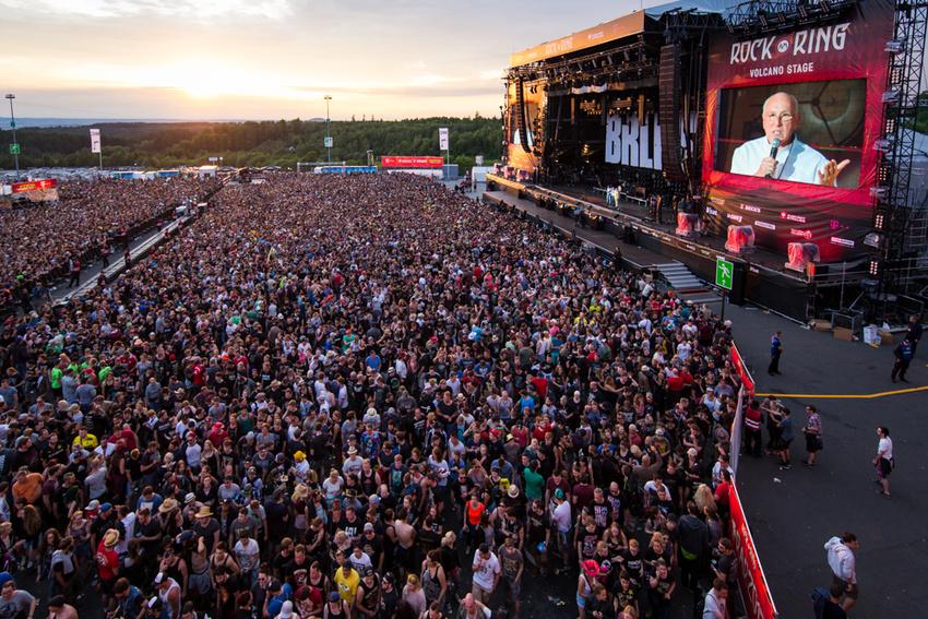 Marek Lieberberg gibt die Absage des Freitags von Rock am Ring 2017 bekannt