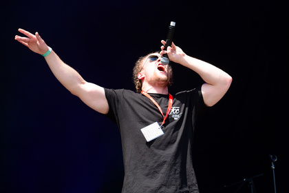 Rap Made In Germany - Wortspiele: Live-Fotos von Rapper 3Plusss beim Happiness Festival 2017