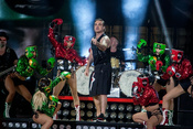 Robbie Williams: Bilder des Superstars aus der Commerzbank-Arena in Frankfurt