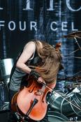 Mit Cellos: Fotos von Apocalyptica live beim Deichbrand Festival 2017