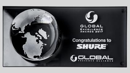 Große Ehrung - Shure erhält höchste Auszeichnung der Global Presence Alliance
