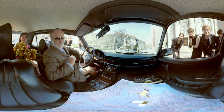 Screenshot: 360-Grad-Video mit Friedrich Liechtenstein von Uwe Flade