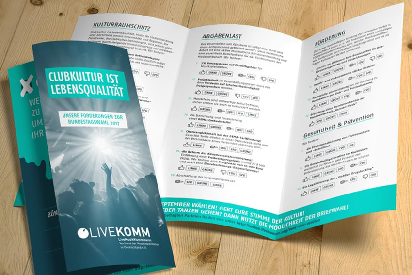 Wahlkampf aus Clubperspektive: LiveKomm veröffentlicht Positionen der Parteien zu branchenrelevanten Themen