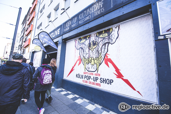Rheiner Metal - Metallica: Impressionen des Pop-Up-Stores in Köln