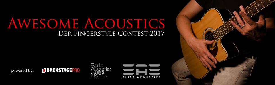Awesome Acoustics 2017: Jetzt bewerben und Amp, Endorsement und Gig gewinnen!
