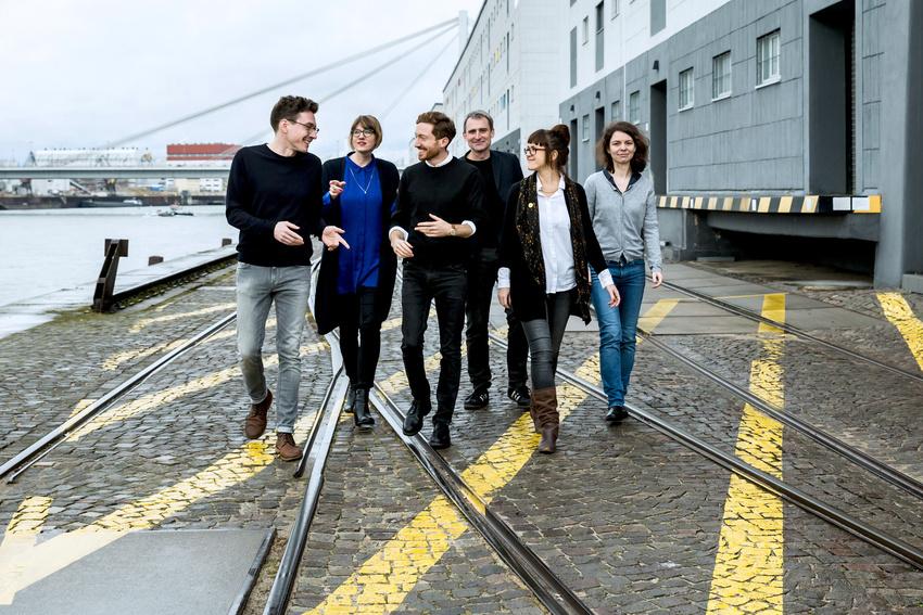 Das Kuratorenkollektiv 2017: Fabian Knierim, Kerstin Meincke, Boaz Levin, Florian Ebner, Kathrin Schönegg, Christin Müller
