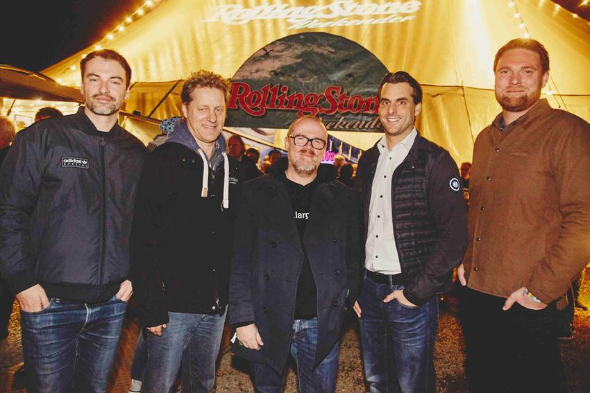 Veranstalter des Rolling Stone Park 2018: Volker Schadt, Folkert Koopmans, Sebastian Zabel, Thomas Mack und Stephan Thanscheid.