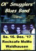 Ol' Smugglers' Blues Band in Lorch-Waldhausen, Konzert, 16.12.2017, Rock Cafe Momo -