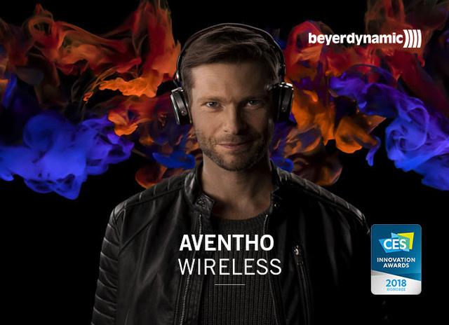 CES Innovation Award 2018 für den Bluetooth-Kopfhörer Aventho wireless von beyerdynamic