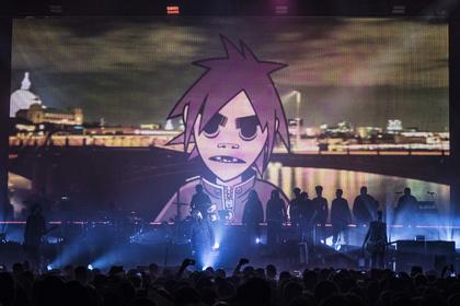 Humanz und Cartoonz - Gorillaz: Damon Albarn und Gaststars erwecken ihre virtuellen Superstars in Berlin zum Leben