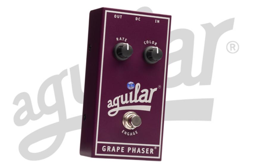 NAMM 2018: Aguilar präsentiert das neue analoge Bass-Pedal Grape Phaser