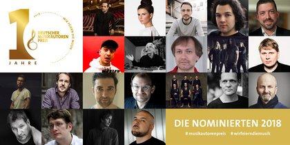 Die Nominierten für den Musikautorenpreis 2018 stehen fest - Männerdominanz in der Kritik