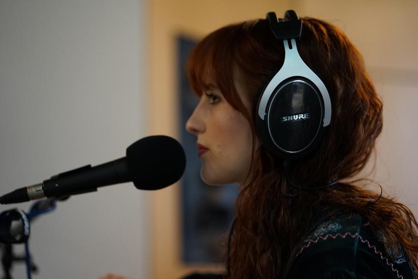 Jenny Bright bei der Aufnahme