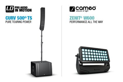 Strahlende Performance - Cameo ZENIT W600 und LD Systems CURV 500 TS ab sofort verfügbar