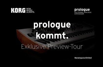 Lass dich beeindrucken - prologue kommt. Exklusive Preview-Tour zum KORG prologue