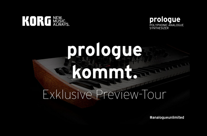 prologue kommt. Exklusive Preview-Tour zum KORG prologue