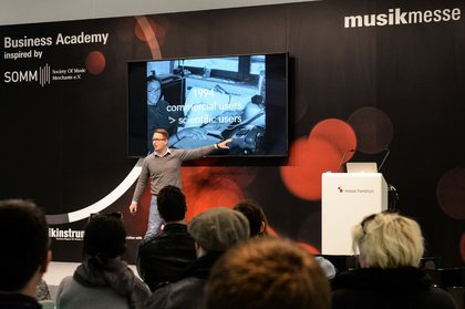 """Musikmesse 2018: """"Business Academy inspired by SOMM"""" vermittelt Praxiswissen speziell für die MI-Branche"""