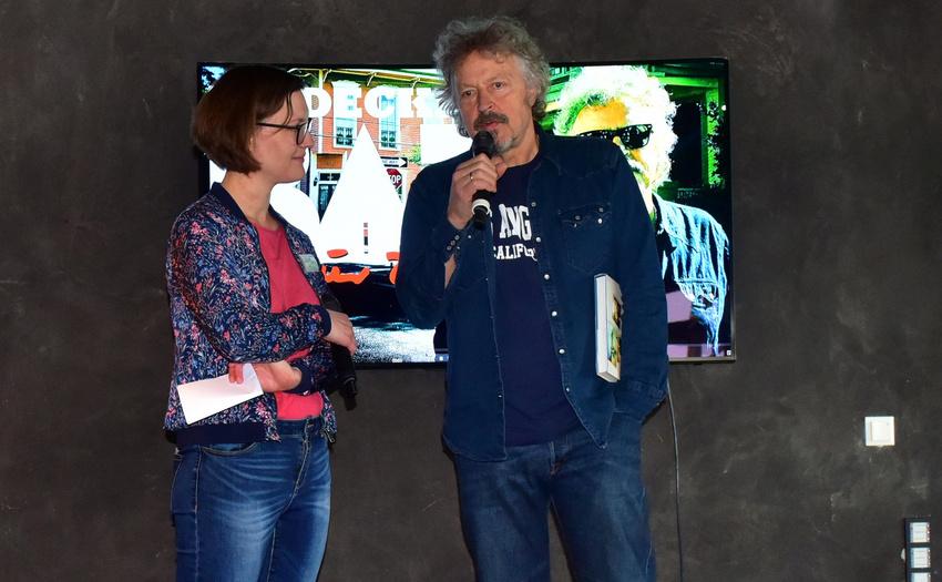 Katharina Nicol von Semmel Concerts und Wolfgang Niedecken beim Pressetermin in Mannheim