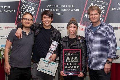 Musiker*Innen nominierten und wählten ihre Favs - Verleihung des BACKSTAGE Clubaward 2018: Das sind die besten Locations Deutschlands!