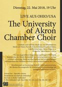 University of Akron Chamber Singers – Benefizkonzert Pauluskirche Berlin in Berlin, Konzert, 22.05.2018, Pauluskirche -