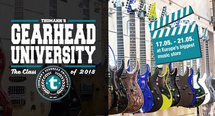 """Thomann's Gearhead University Class of 2018"" holt bekannte YouTuber und attraktive Brands nach Treppendorf"