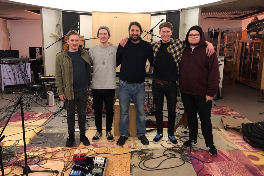 Die Band Finding Harbours mit Jens Siefert (Mitte)