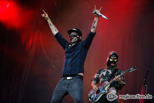 Ganz schön lebendig - Maskiert: Fotos von Hollywood Undead live bei Rock im Park 2018