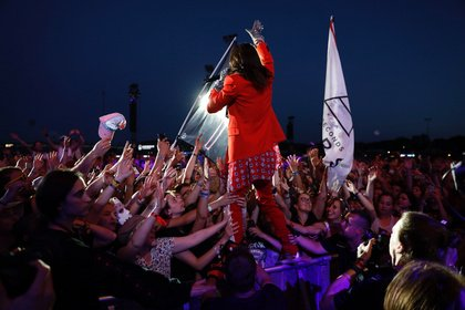 Wie eine Messe - Bunt: Live-Bilder von Thirty Seconds To Mars bei Rock im Park 2018