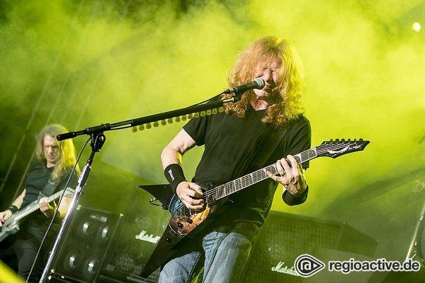 Einflussreich - Fotos von Megadeth live als Opener von Judas Priest beim Zeltfestival Rhein-Neckar