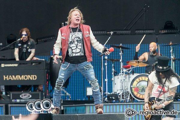 Frontmann zeigt Einsatz - Axl Rose krank: Guns N' Roses kürzen Show in Abu Dhabi